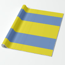Yellow and Sky Blue Wrapping Paper