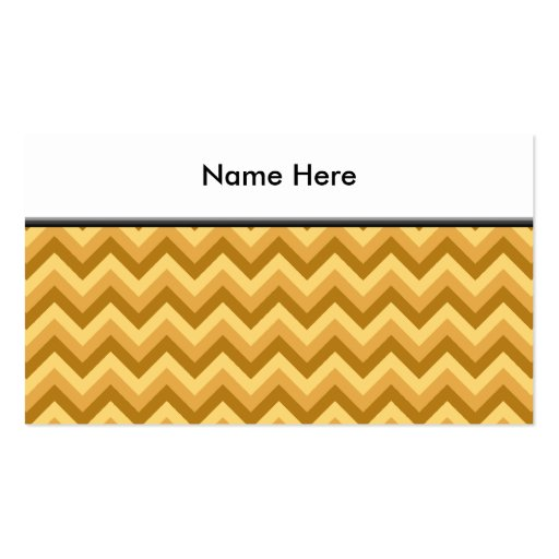Yellow and Tan Zigzag Stripes. Business Card