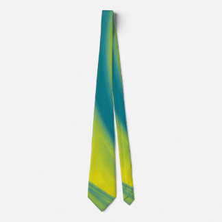 Yellow and Teal Swirl Tie