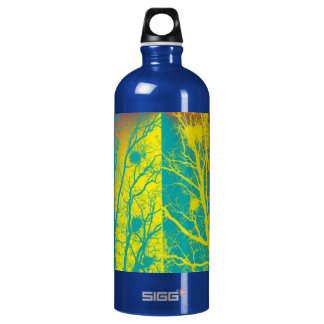 YELLOW AND TEAL TREES SIGG TRAVELER 1.0L WATER BOTTLE