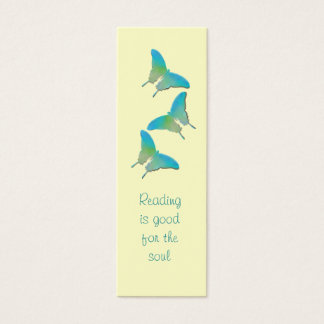 Yellow And Turquoise Butterfly  - Book Marker Mini Business Card