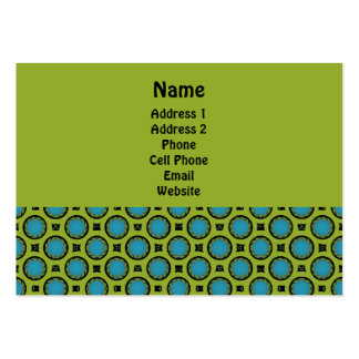 yellow and turquoise large business card