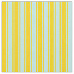 [ Thumbnail: Yellow and Turquoise Striped Pattern Fabric ]