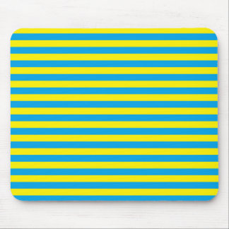 Yellow and Turquoise Stripes Mouse Pad