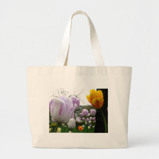 Yellow and Violet Large Tote Bag