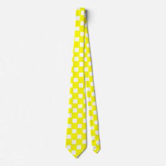 Yellow and White Checkered Tie