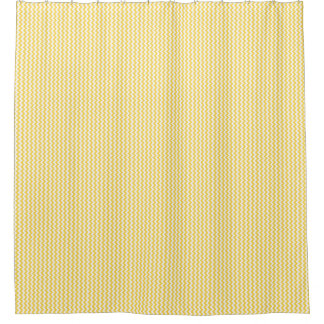 Yellow And White Shower Curtains