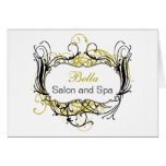 yellow and white Chic Business Thank You Cards