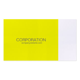 Yellow and white classy business card