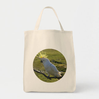 Yellow and White Cockatoo Parrot Tote Bag