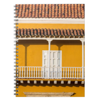Yellow and White Colonial Balcony Notebook