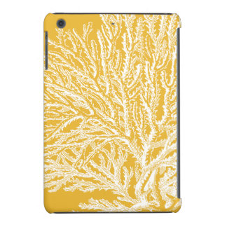 Yellow and White Coral iPad Mini Case