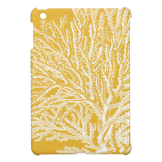 Yellow and White Coral iPad Mini Cases