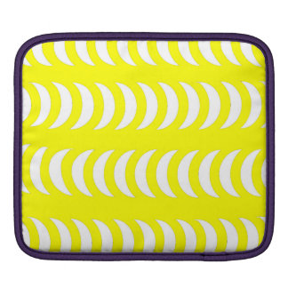 Yellow And White Crescent Moons Sleeves For iPads