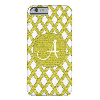 Yellow and white crisscross monogram cell phone ca barely there iPhone 6 case