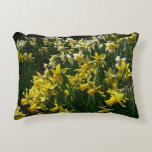 Yellow and White Daffodils Spring Flowers Accent Pillow
