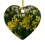 Yellow and White Daffodils Spring Flowers Ceramic Ornament