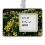 Yellow and White Daffodils Spring Flowers Christmas Ornament