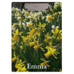 Yellow and White Daffodils Spring Flowers Clipboard