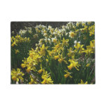 Yellow and White Daffodils Spring Flowers Doormat