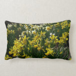 Yellow and White Daffodils Spring Flowers Lumbar Pillow