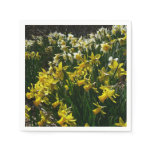 Yellow and White Daffodils Spring Flowers Napkin