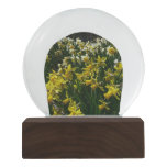 Yellow and White Daffodils Spring Flowers Snow Globe
