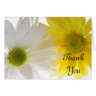 Yellow and White Daisies Thank You Card