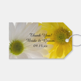 Yellow and White Daisies Wedding Favor Tags
