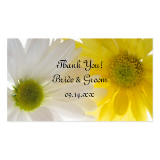 Yellow and White Daisies Wedding Favor Tags Business Card