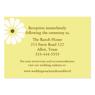 Yellow and White Daisy Wedding Enclosure Cards