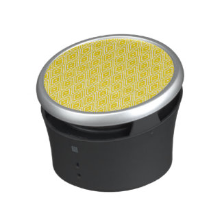 Yellow and White Diamonds Bluetooth Speaker