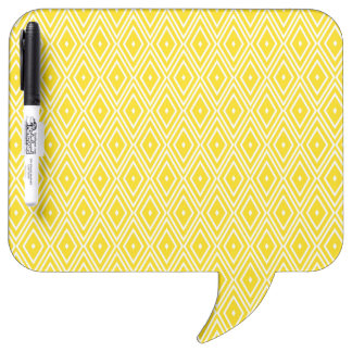 Yellow and White Diamonds Dry-Erase Boards