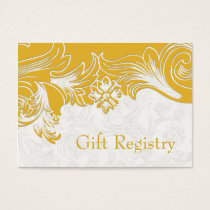 Yellow and White Floral Spring Wedding Business Card
