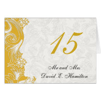 Yellow and White Floral Spring Wedding Card