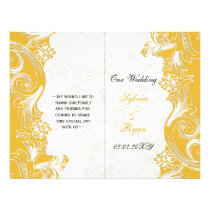 Yellow and White Floral Spring Wedding Flyer
