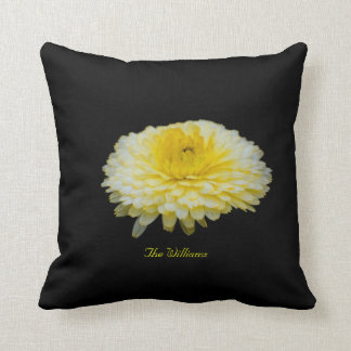 Yellow and White Flower Blossom Pillow