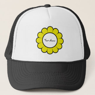 Yellow and White Flower Trucker Hat
