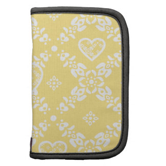 Yellow and white flowers and hearts customizable planners