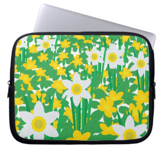 Yellow And White Flowers Laptop Sleeve