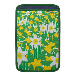 Yellow And White Flowers MacBook Sleeves