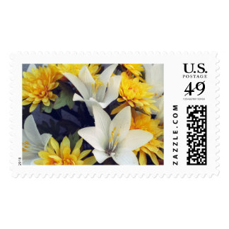 Yellow and White Flowers Postage