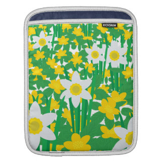 Yellow And White Flowers Sleeves For iPads