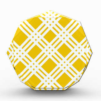 Yellow and White Gingham Award