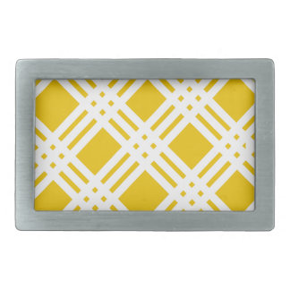 Yellow and White Gingham Belt Buckle