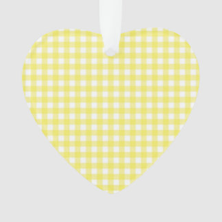 Yellow and White Gingham Design