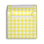 Yellow and White Gingham Design Envelope