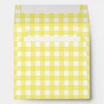 Yellow and White Gingham Design Envelopes