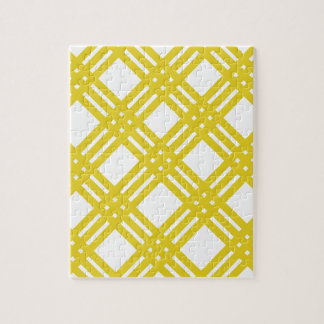 Yellow and White Gingham Jigsaw Puzzle