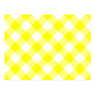 Yellow and White Gingham Postcards